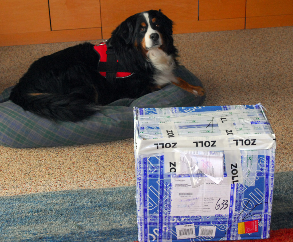 """Today I picked this parcel up at the """"zoll"""" in Emmerich, Germany"""